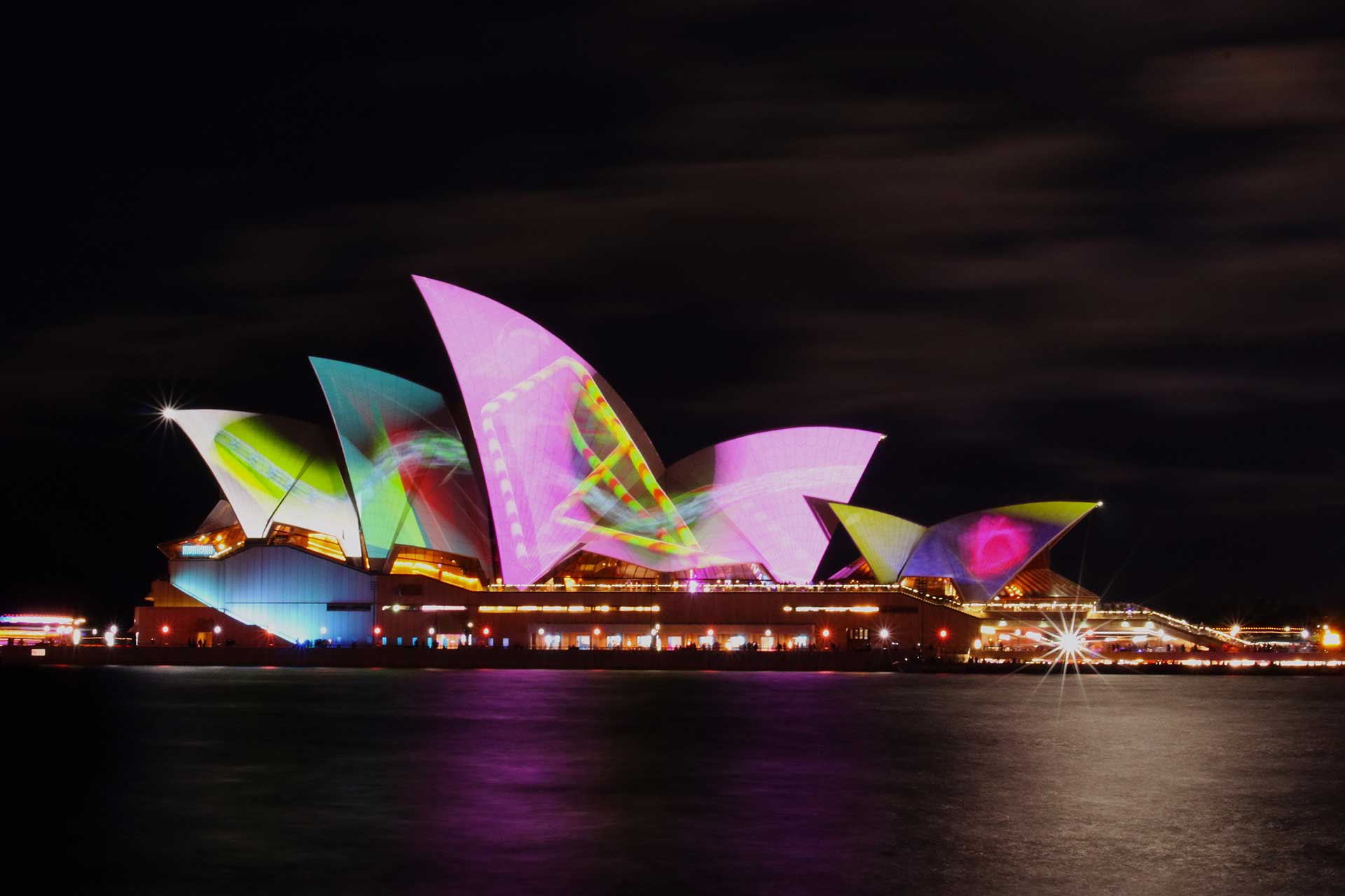 Vivid-Festival-Watch-from-hired-boat-Sydney